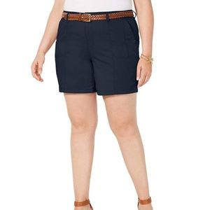 Style & Co. Plus Mid Rise Chino Bermuda Shorts